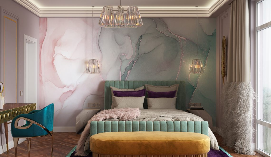 ddr glamorous bedroom design featuring chandra chair koket