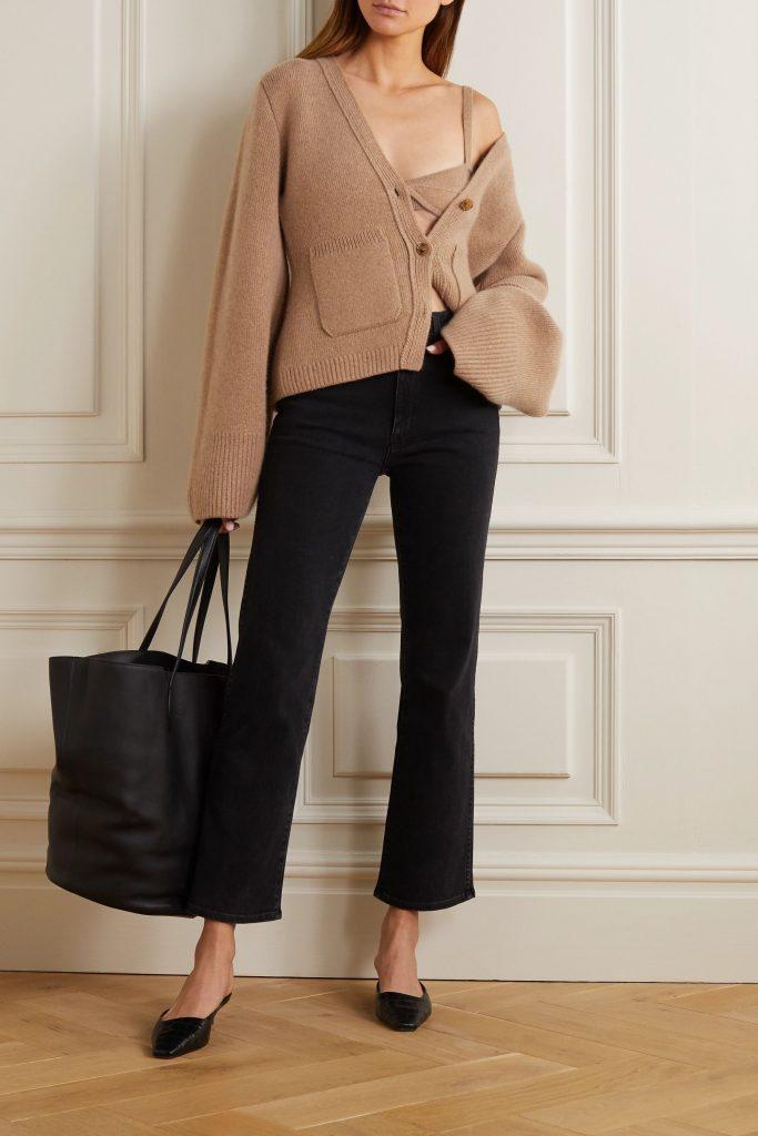 KHAITE Eda cashmere soft-cup bra & cardigan - everyday lingerie