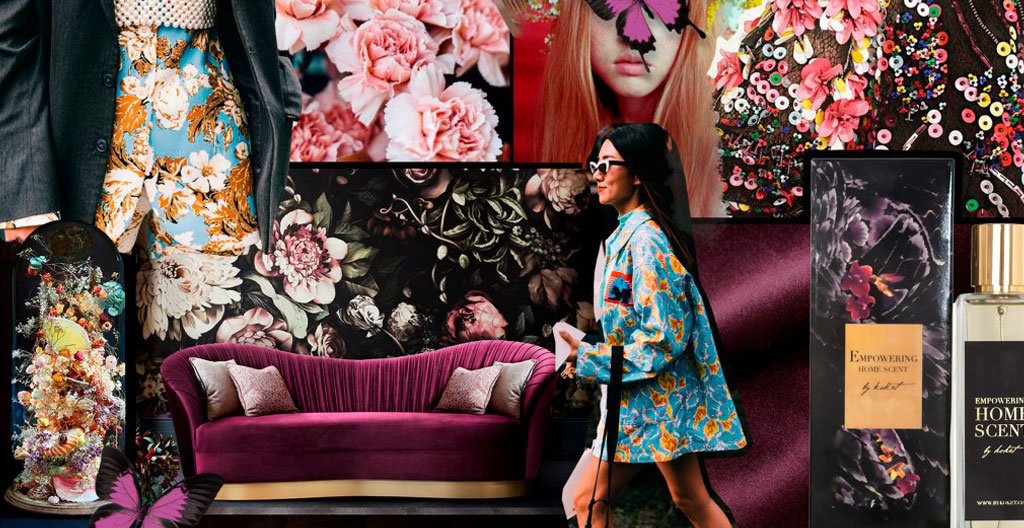 koket empowering home scent interior design moodboard
