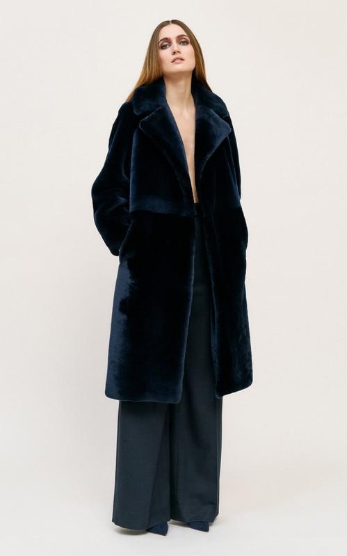 Martin Grant Teddy Bear Shearling Coat - fall 2020 fashion trends