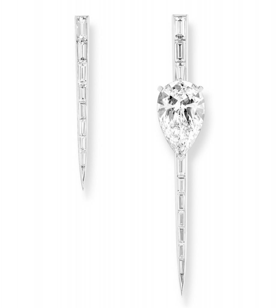 Diamond high jewelry earrings by Messika