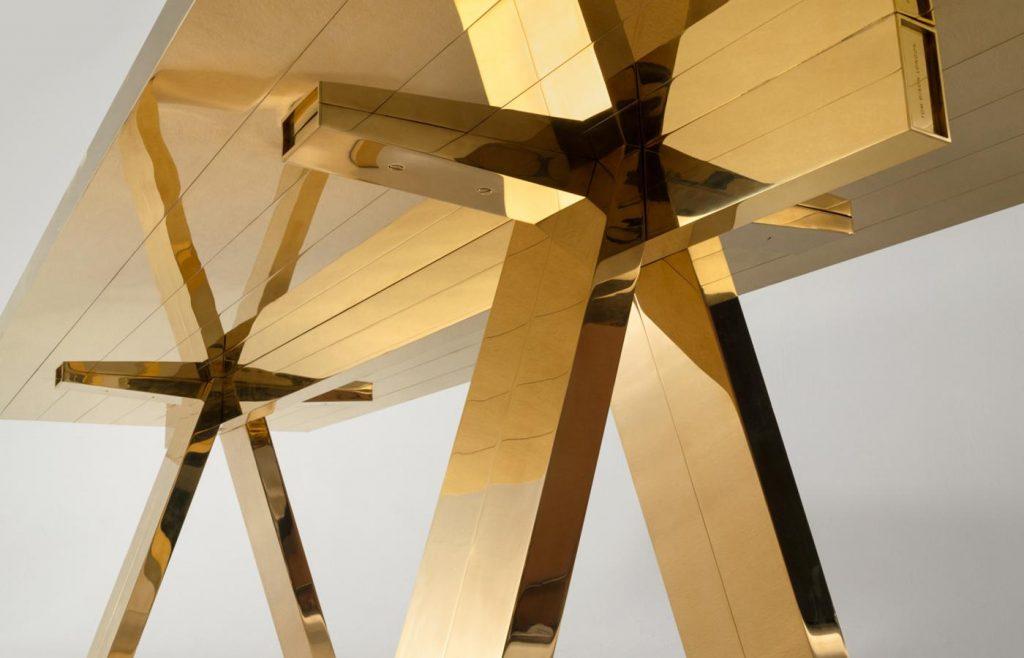 New Brass Mass Table by Tom Dixon london design festival 2020 octagon