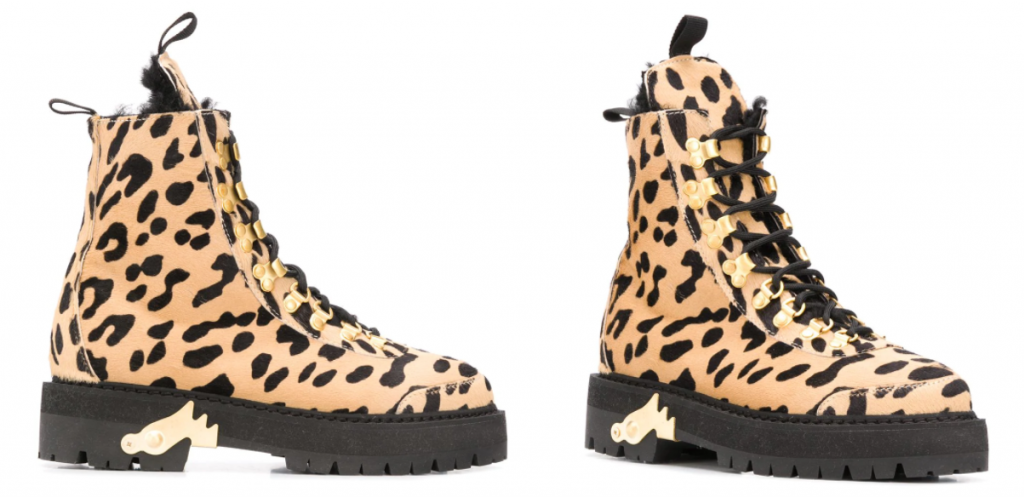 Off-White Cheetah-print Combat Boots
