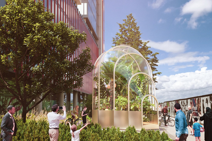 Rendering of The Hothouse by Studio Weave London Design Festival 2020