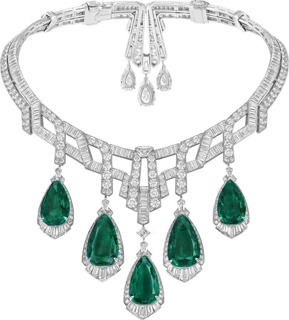 high jewelry Merveille d'Emeraudes necklace by Van Cleef & Arpels