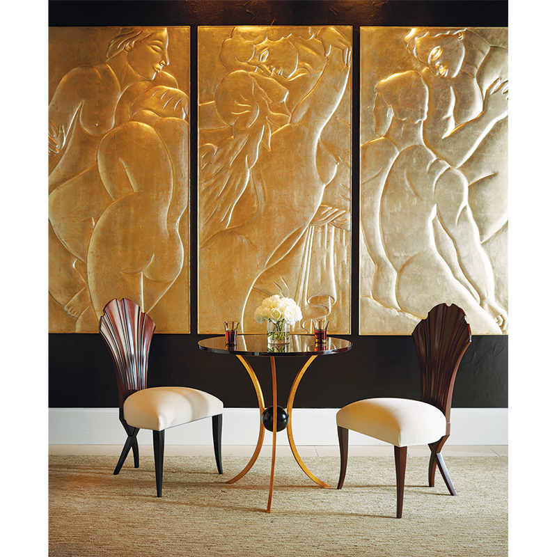 hand carved art panels of a couple in love gold leaf CG