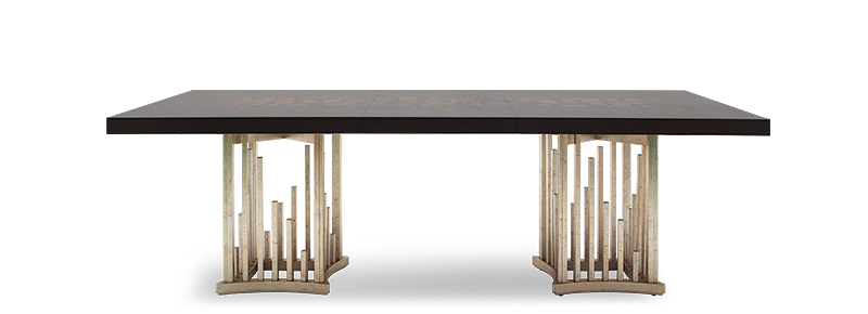This mahogany dining table is at home in any grand setting and with its magnificent appeal and fine workmanship.