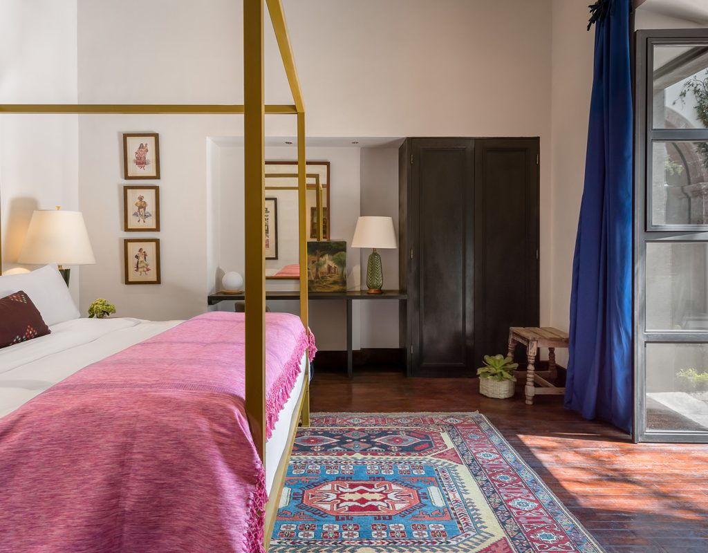 Rey guest room at Hotel Amparo designed by Aaron Rambo - most beautiful hotels in mexico