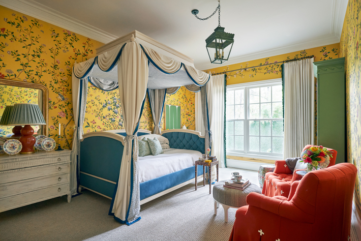 Downstairs Bedroom by Dina Bandman Interiors kips bay decorator show house dallas 2020