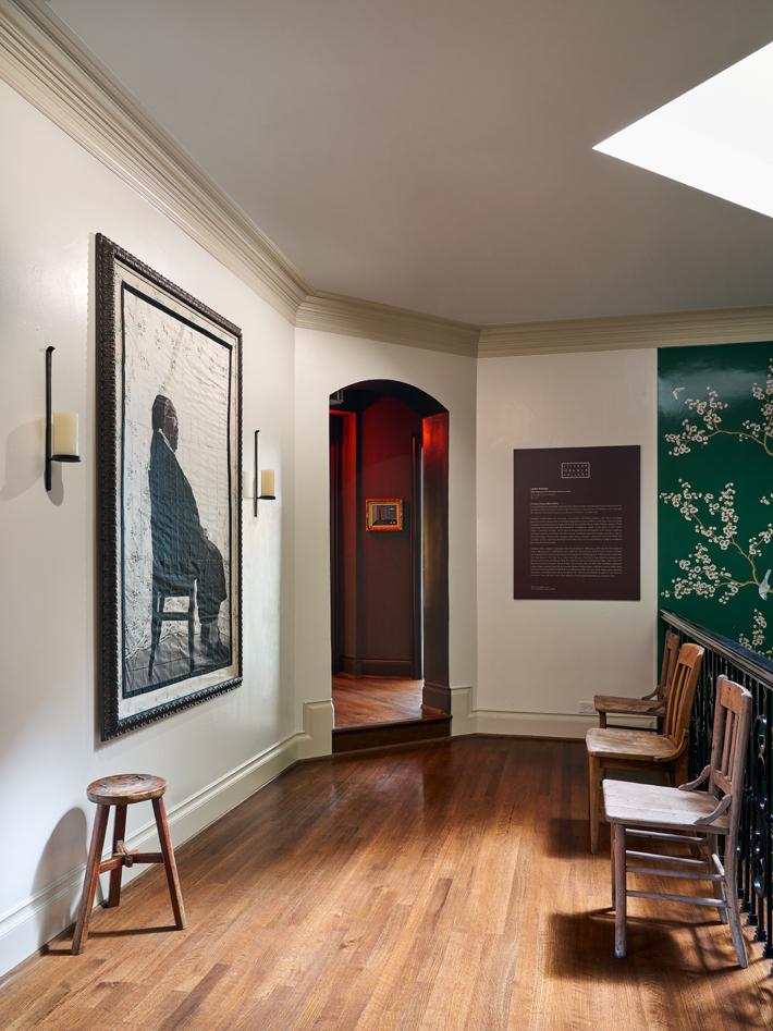 Upstairs Landing by Liliana Bloch Gallery Featuring Art by Letitia Huckaby kips bay dallas 2020