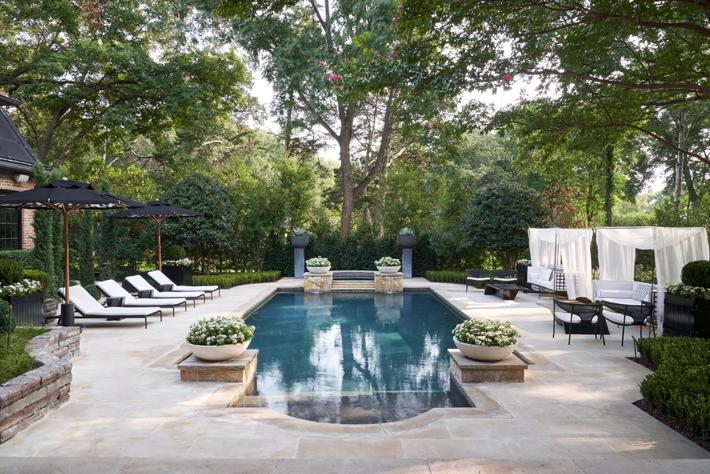 kips bay decorator show house dallas rear landscape and pool deck by melissa gerstle design