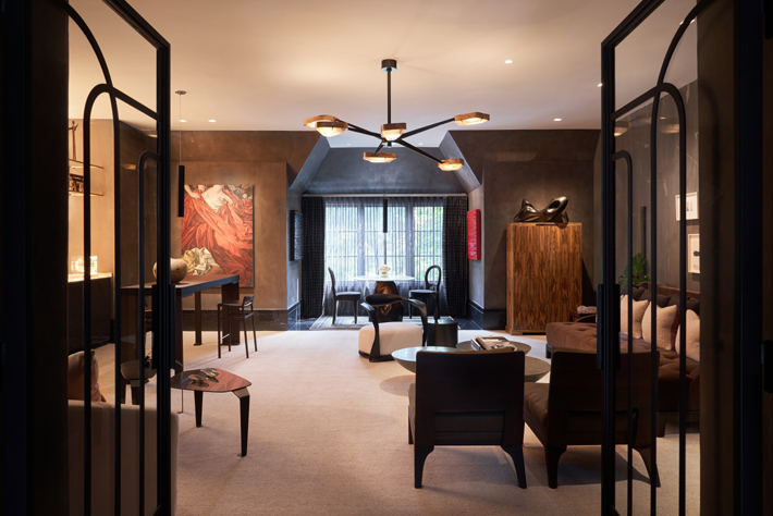 Upstairs Living Room by Ten Plus Three kips bay decorator show house dallas 2020
