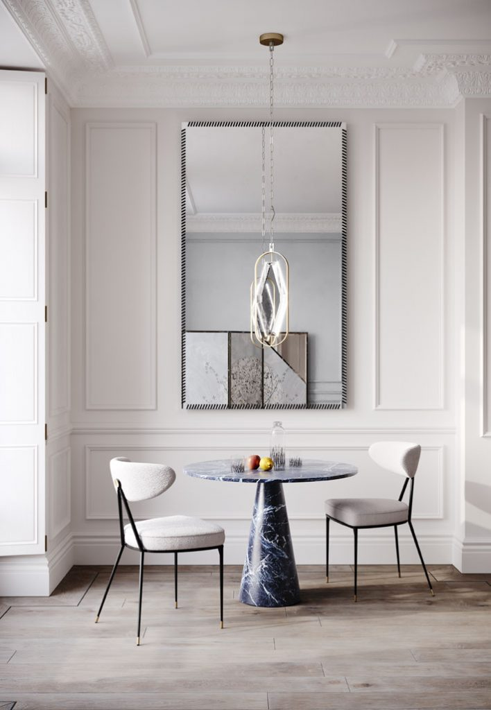 dining chair objet and black marble table timeless design