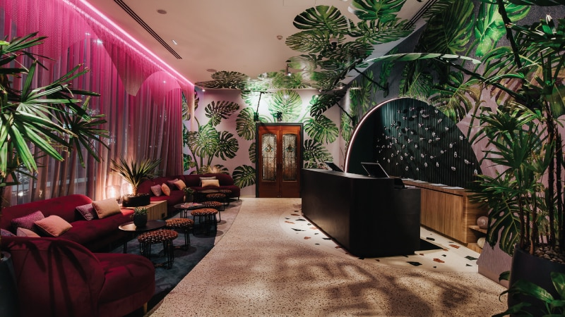 Lobby at the Ovolo The Valley Hotel Brisbane, Australia designed by Woods Bagot