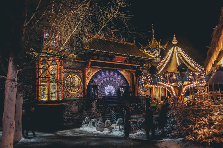 Tivoli Gardens denmark - kid-friendly family vacation. Photo by Ethan Hu.