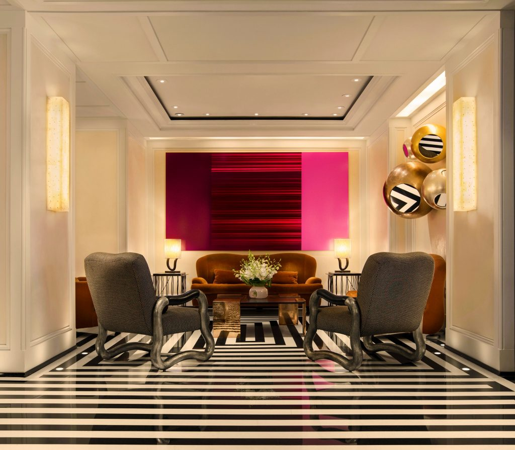 The Mark Lobby Sitting Room designed by Jacques Grange, Photo by Francesco Tonelli