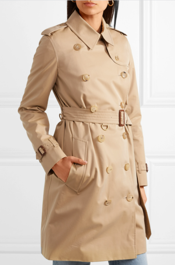 iconic fashion pieces The Kensington Cotton-Gabardine Trench Coat by Burberry