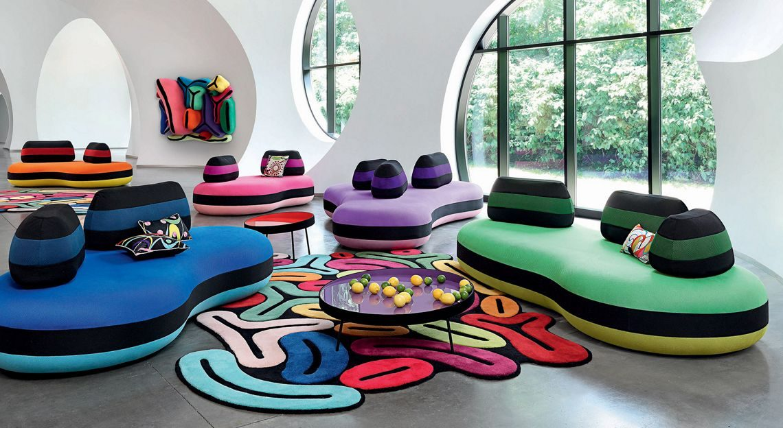 joana vasconcelos bombom roche bobois luxury furniture collection 60th anniversary