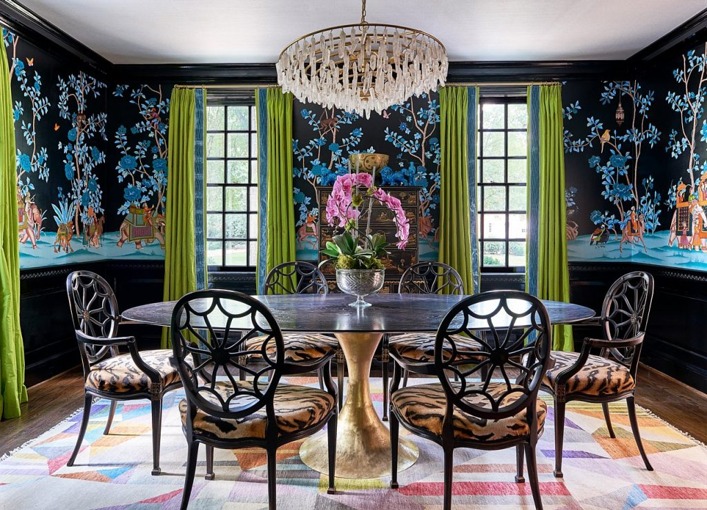 designing a dining room - Mural by Paul Montgomery