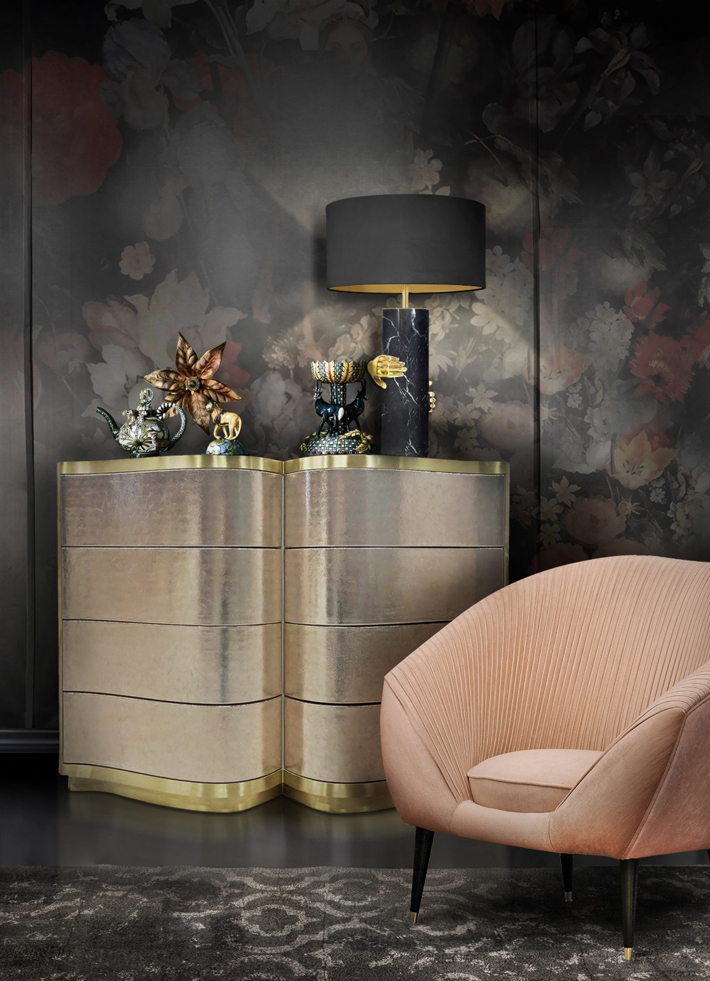 Audrey Chair and Poem Chest by KOKET