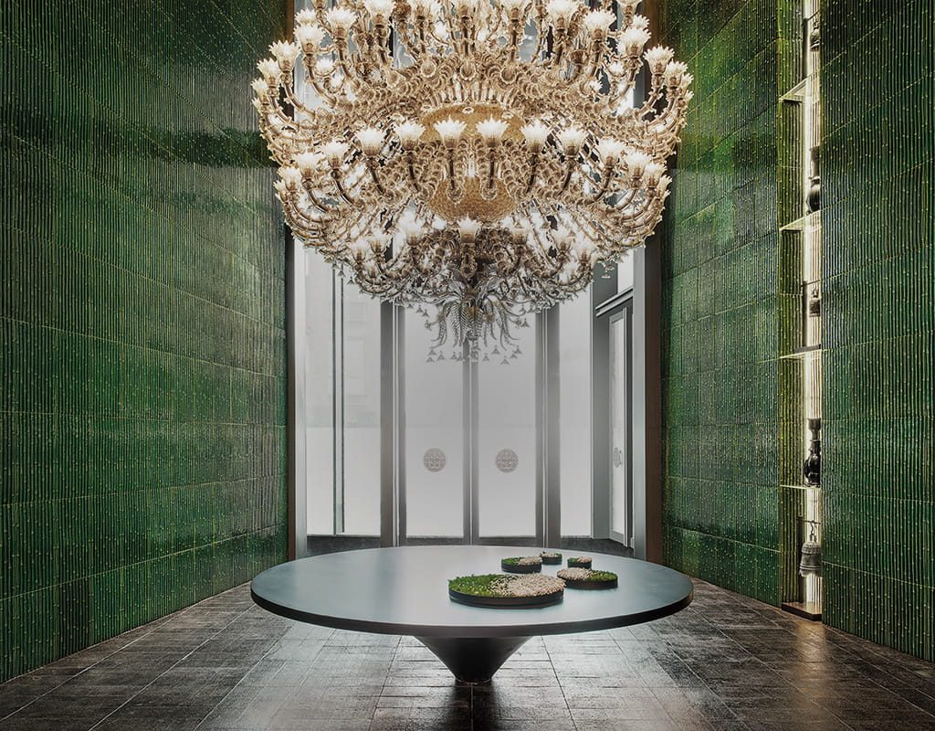 Lobby at The Middle House, Shanghai most beautiful hotels, designed by Piero Lissoni