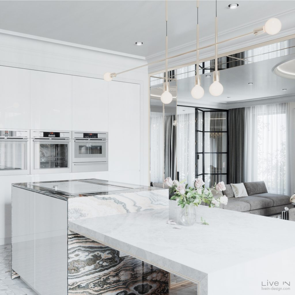 Kitchen design by Live In Design featuring smart appliances