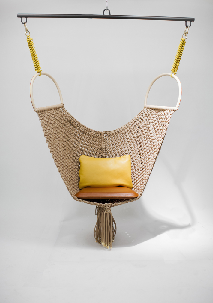 designer home decor Swing Chair designed by Patricia Urquiola for Louis Vuitton - Objets Nomades (2015)