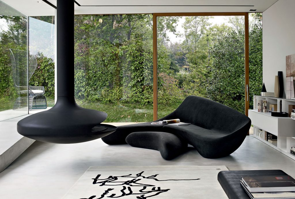 designer home decor moon sofa system by zaha hadid for b&b italia