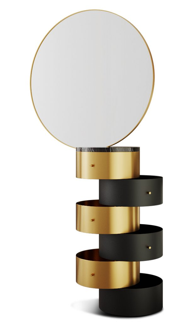 black and gold beauty table by nika zupanc for scarlet splendour