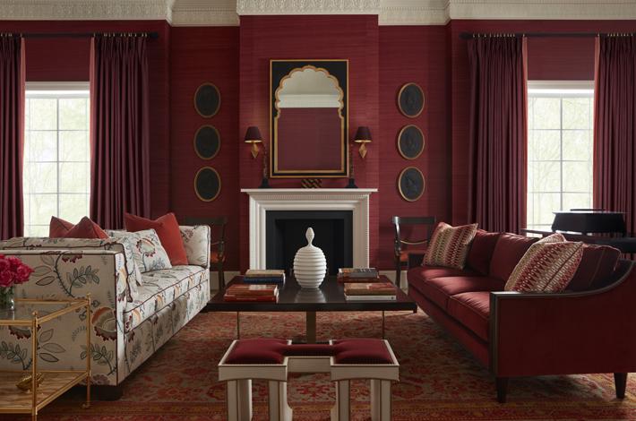 Living Room Furnishings by Alexa Hampton for Thomas Alexander