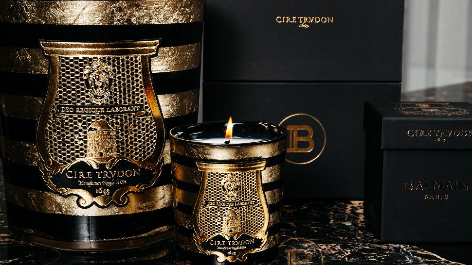 BalmainxTrudon candle
