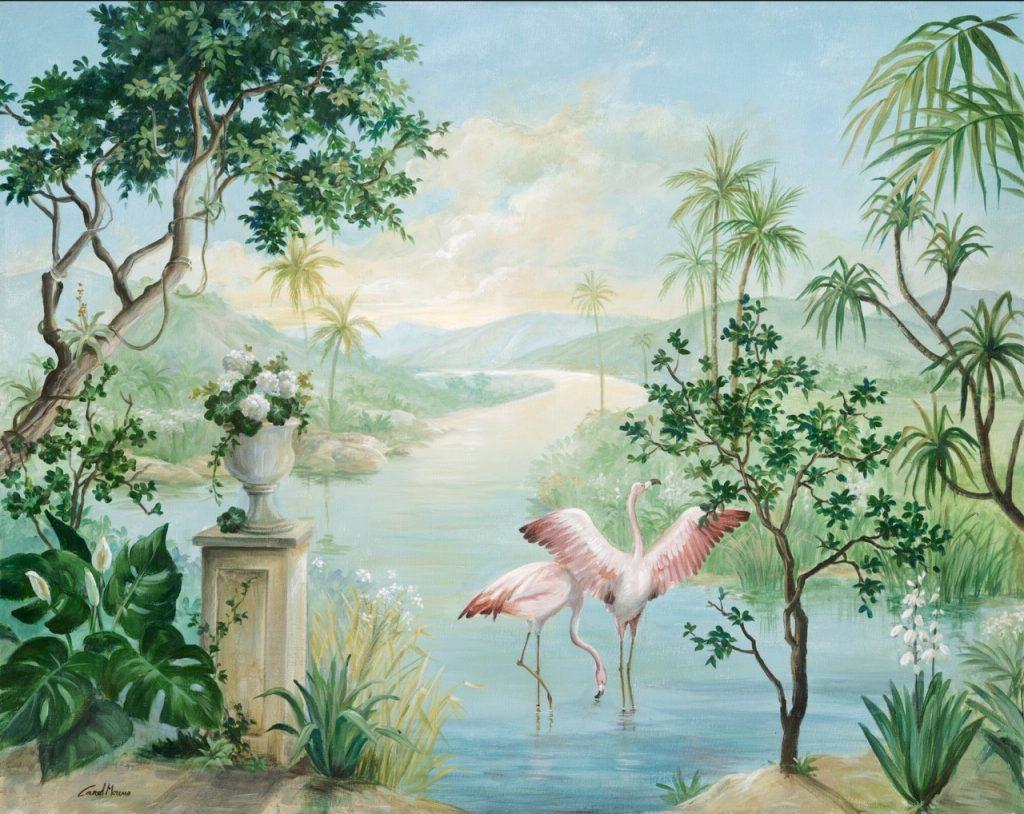 Carol Moreno painting for Coordonné wallpaper mural