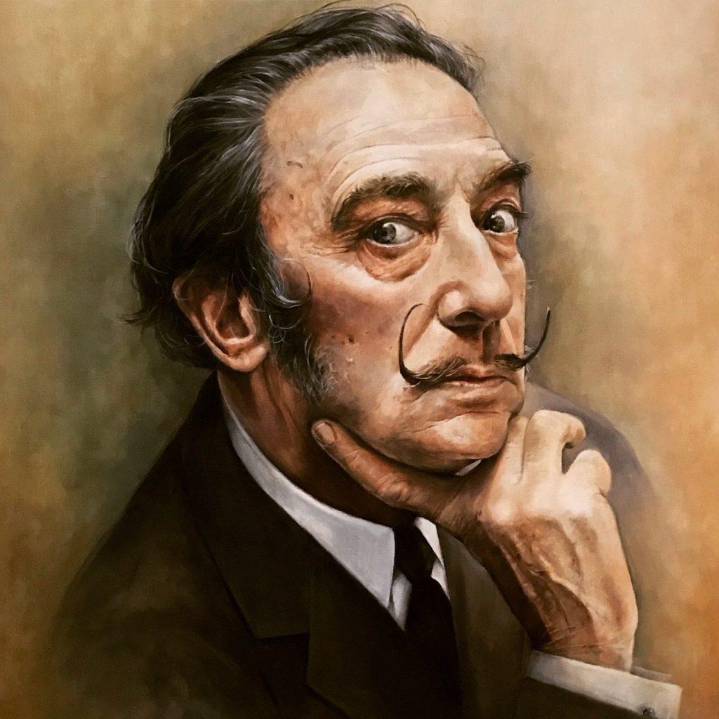 Salvador Dali by Carol Moreno portrait painter spain
