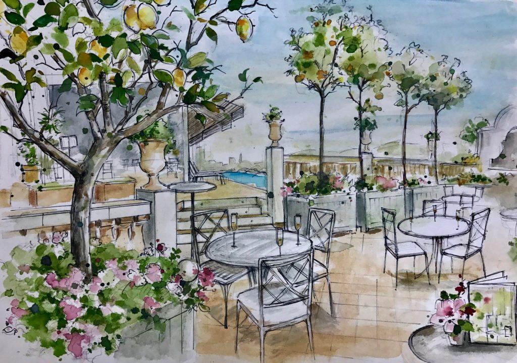 Sketch by Carol Moreno