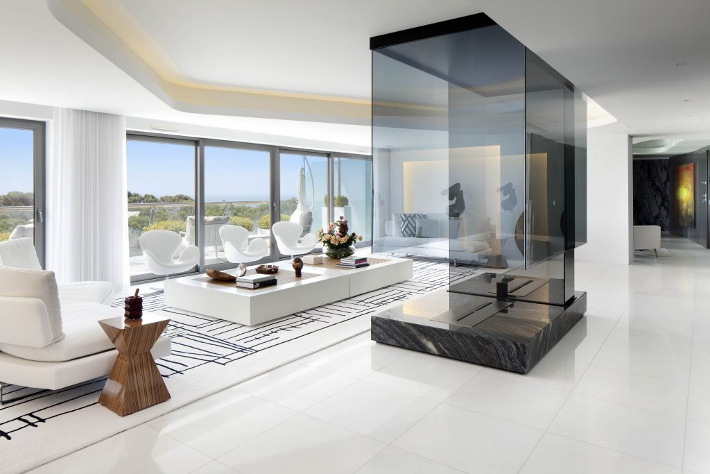 Cascais Penthouse living room by Ines Gavinho architecture and interiors