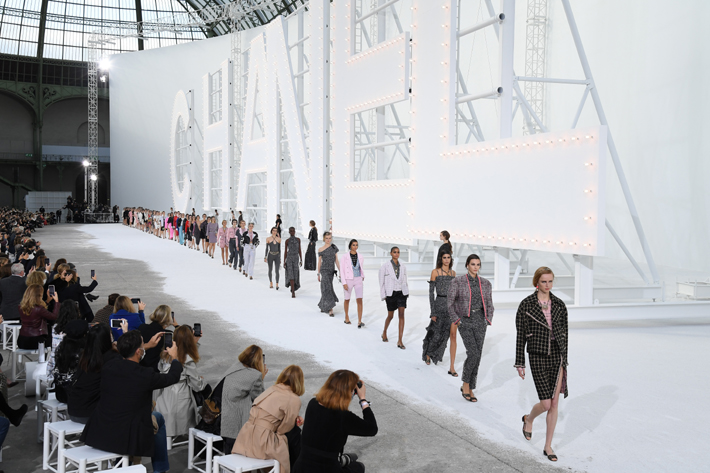 ss21 runway looks - Models walk the runway during the Chanel Womenswear Spring/Summer 2021 show as part of Paris Fashion Week on October 06, 2020 in Paris, France. (Photo by Pascal Le Segretain/Getty Images)