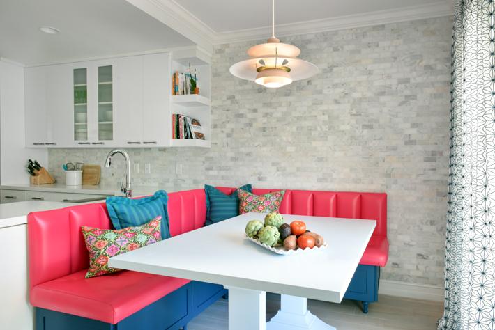 kitchen dining room Ocean Ridge, FL residence designed by Nina Grauer, Dekay & Tate Interiors