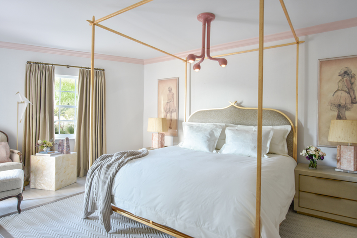 neutral bedroom Ocean Ridge, FL residence designed by Nina Grauer, Dekay & Tate Interiors