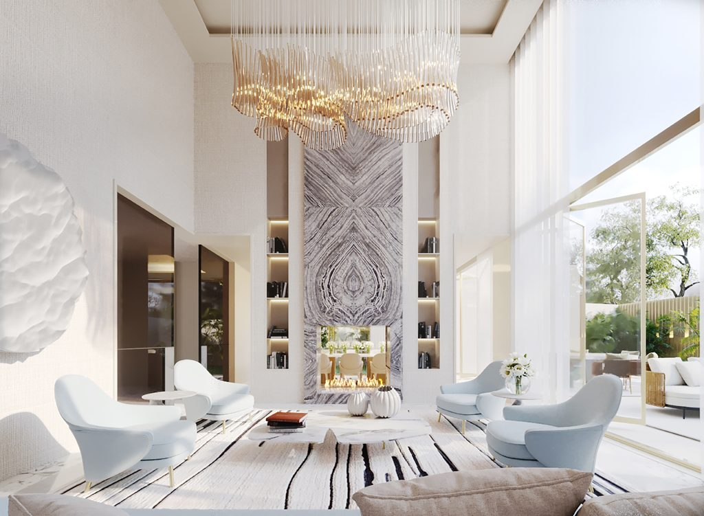 The social living room of one of the townhouses at Legacy designed by ines gavinho