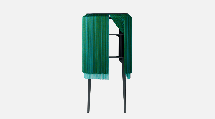 Lady Alpaga by ibride fringe bar cabinet