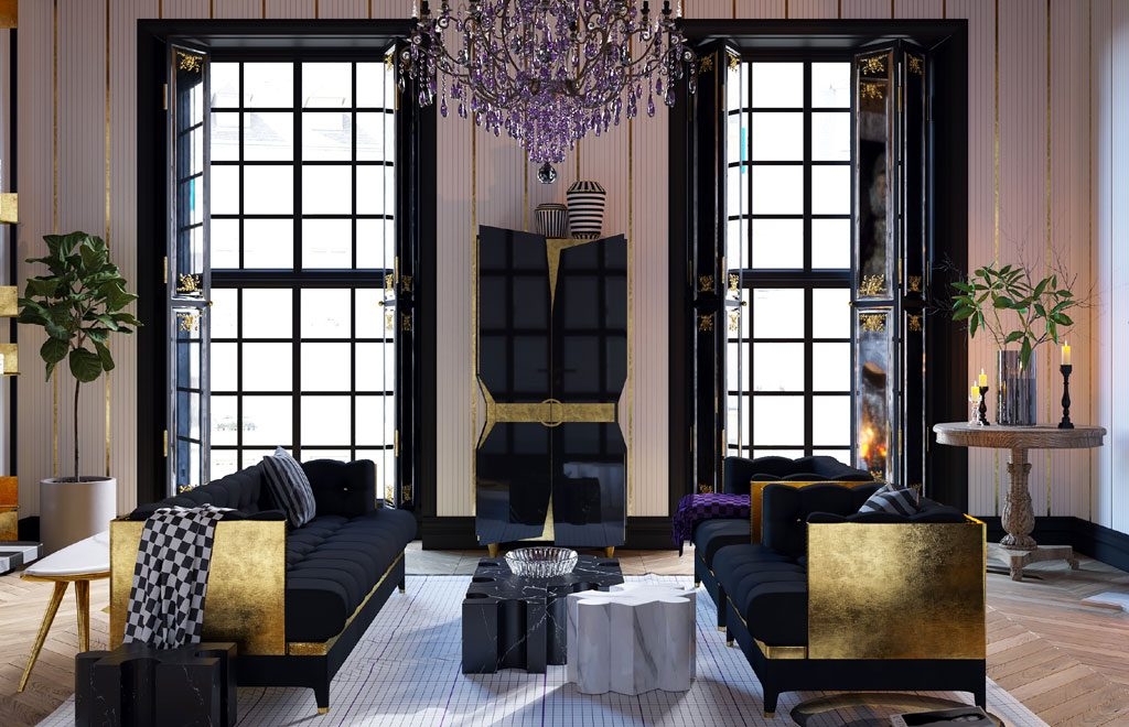 Veuve Clicquot Yuriy Zimenko luxurious living room apartment design