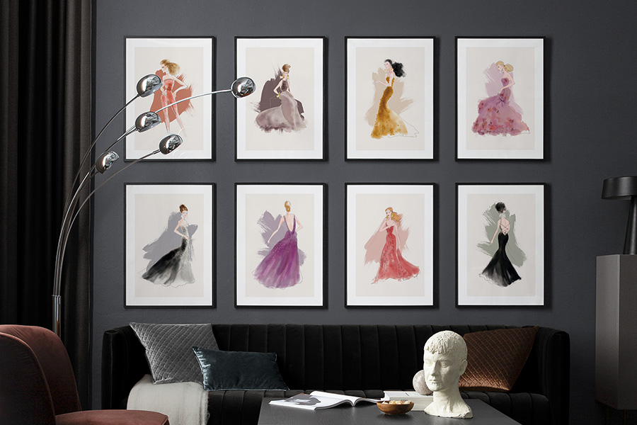 fashion as art illustrations by Lars WALLIN for Desenio