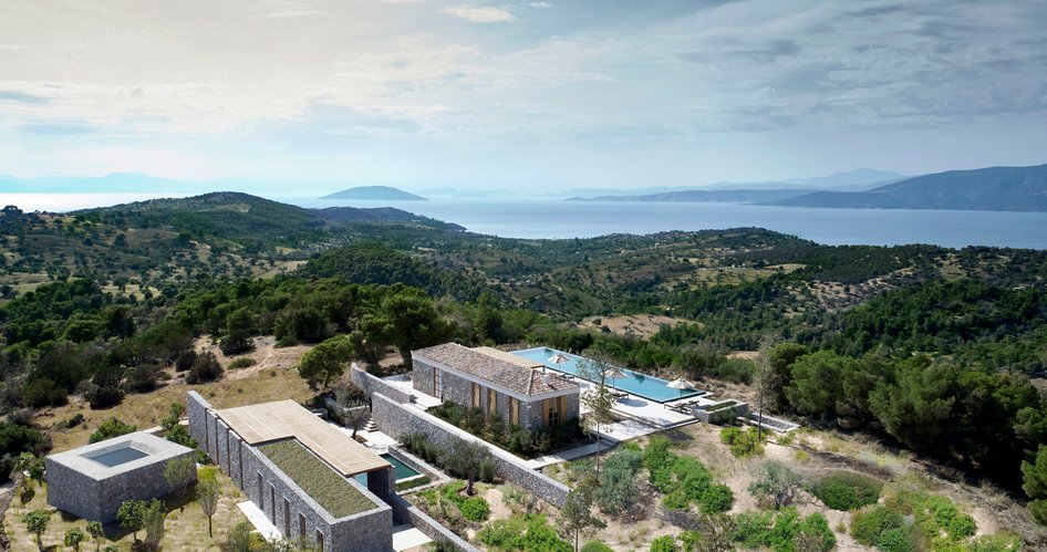 amanzoe villa overview living in paradise
