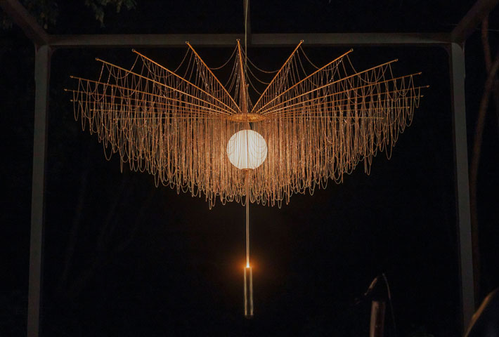 Duvet des Chardons functional art sculptural lighting by larose guyon