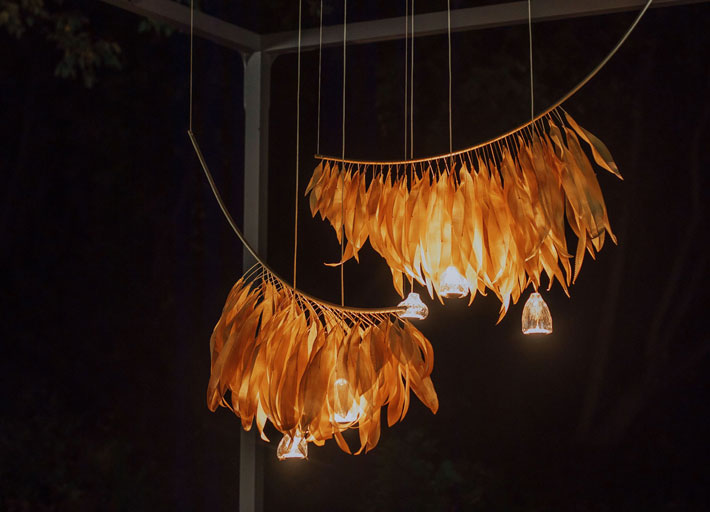 Fleur de Velours functional art sculptural lighting by larose guyon