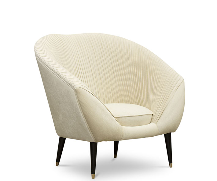 ruched audrey luxury designer chairs koket