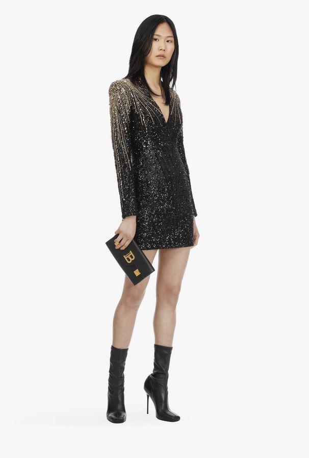 best holiday dresses Balmain Short Black Dress