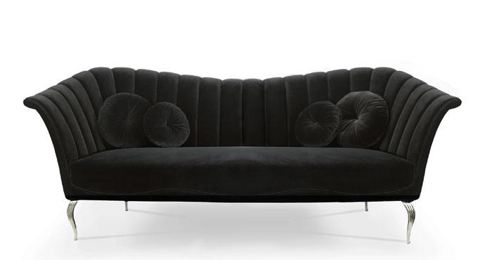 black velvet luxury designer sofas Caprichosa by KOKET
