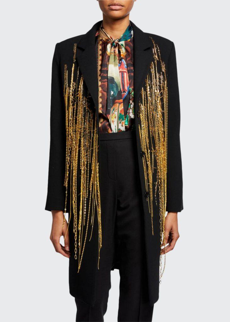 Libertine wool crepe coat