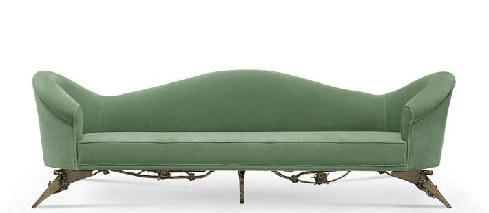 green colette sofa by KOKET luxury designer sofas